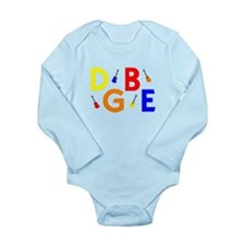 Baritone Ukulele Long Sleeve Infant Bodysuit