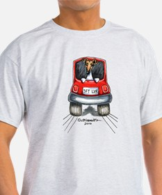 Smooth Fox Terrier Car T-Shirt