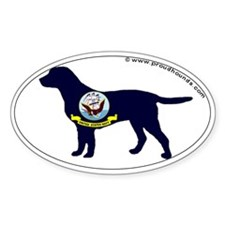 Navy Labrador Retriever Decal