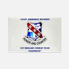 DUI - 1st BCT - Bastogne with Text Rectangle Magne