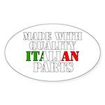 Quality Italian Parts Sticker (Oval)
