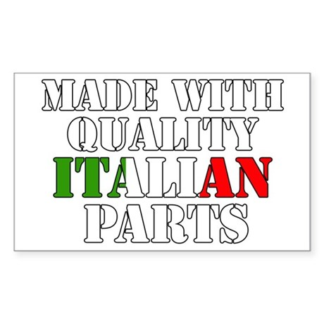 Quality Italian Parts Sticker (Rectangle)
