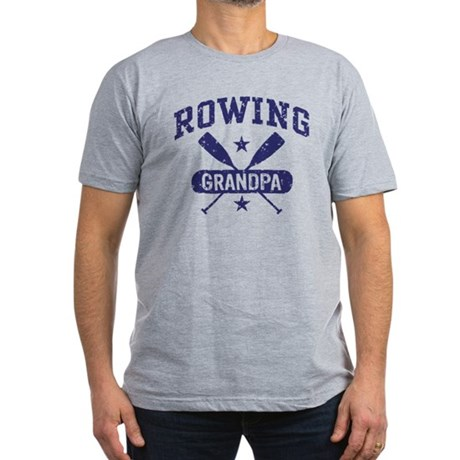 Rowing Grandpa Men's Fitted T-Shirt (dark)