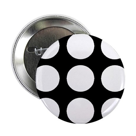 "'White Polka Dot' 2.25"" Button"