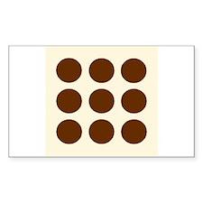 'Brown Polka Dot' Rectangle Decal