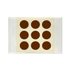 'Brown Polka Dot' Rectangle Magnet