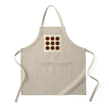 'Brown Polka Dot' BBQ Apron