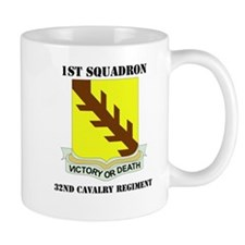 DUI - 1st Sqdrn - 32nd Cavalry Regt with Text Mug