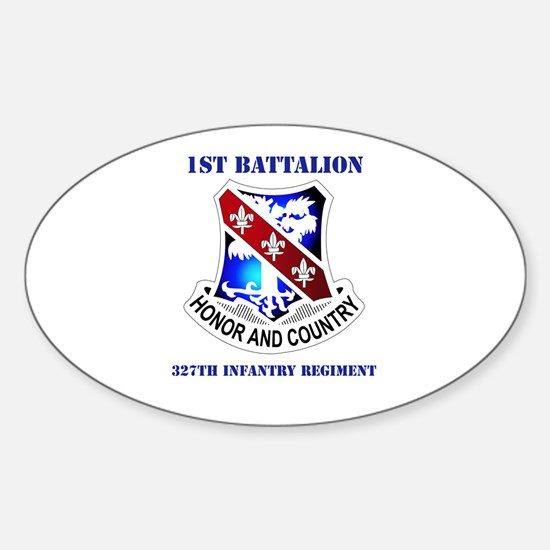 DUI - 1st Bn - 327th Infantry Regt with Text Stick