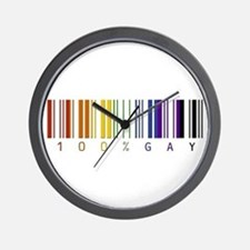 100% gay Wall Clock