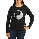 Yin-Yang Women's Long Sleeve Dark T-Shirt