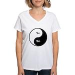 Yin-Yang Women's V-Neck T-Shirt