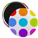 'Rainbow Polka Dot' 2.25