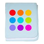 'Rainbow Polka Dot' baby blanket