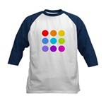 'Rainbow Polka Dot' Kids Baseball Jersey