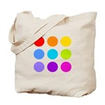 'Rainbow Polka Dot' Tote Bag