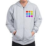 'Rainbow Polka Dot' Zip Hoodie