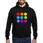 'Rainbow Polka Dot' Hoodie (dark)