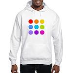 'Rainbow Polka Dot' Hooded Sweatshirt