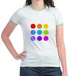 'Rainbow Polka Dot' Jr. Ringer T-Shirt