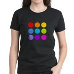 'Rainbow Polka Dot' Women's Dark T-Shirt