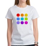 'Rainbow Polka Dot' Women's T-Shirt