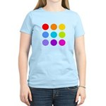 'Rainbow Polka Dot' Women's Light T-Shirt