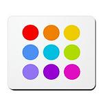 'Rainbow Polka Dot' Mousepad