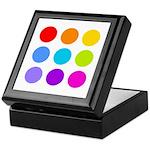 'Rainbow Polka Dot' Keepsake Box