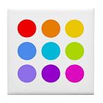 'Rainbow Polka Dot' Tile Coaster
