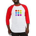 'Rainbow Polka Dot' Baseball Jersey