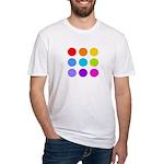 'Rainbow Polka Dot' Fitted T-Shirt