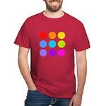 'Rainbow Polka Dot' Dark T-Shirt