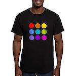 'Rainbow Polka Dot' Men's Fitted T-Shirt (dark)