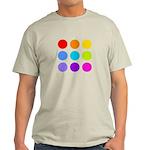 'Rainbow Polka Dot' Light T-Shirt