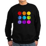 'Rainbow Polka Dot' Sweatshirt (dark)