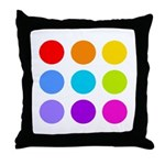 'Rainbow Polka Dot' Throw Pillow