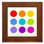 'Rainbow Polka Dot' Framed Tile