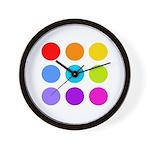 'Rainbow Polka Dot' Wall Clock