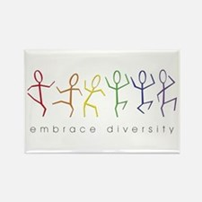 dancing rainbow Rectangle Magnet