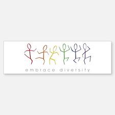 dancing rainbow Bumper Bumper Sticker