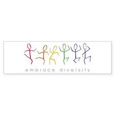 dancing rainbow Bumper Sticker