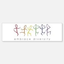 dancing rainbow Sticker (Bumper)