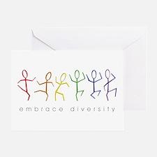 dancing rainbow Greeting Card