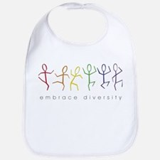 dancing rainbow Bib