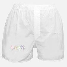 dancing rainbow Boxer Shorts