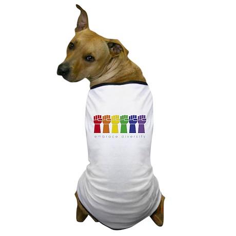 rainbow fist Dog T-Shirt