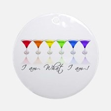 rainbow martinis Ornament (Round)