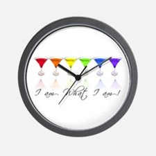 rainbow martinis Wall Clock