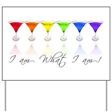 rainbow martinis Yard Sign